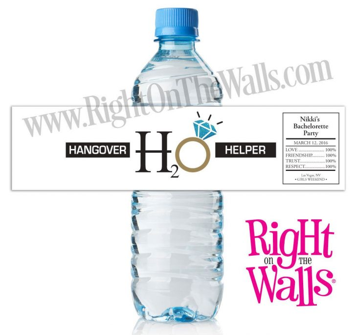 Free Printable Water Bottle Labels Bachelorette