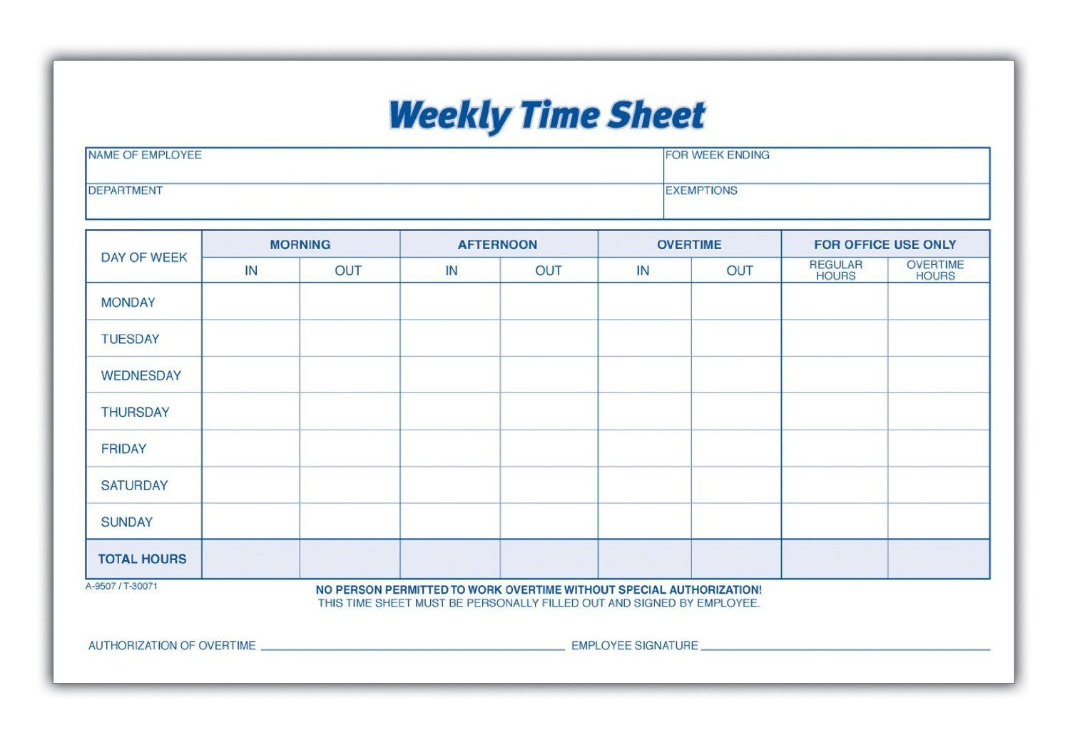 Weekly Employee Time Sheet | Good To Know | Timesheet Template - Free Printable Weekly Time Sheets