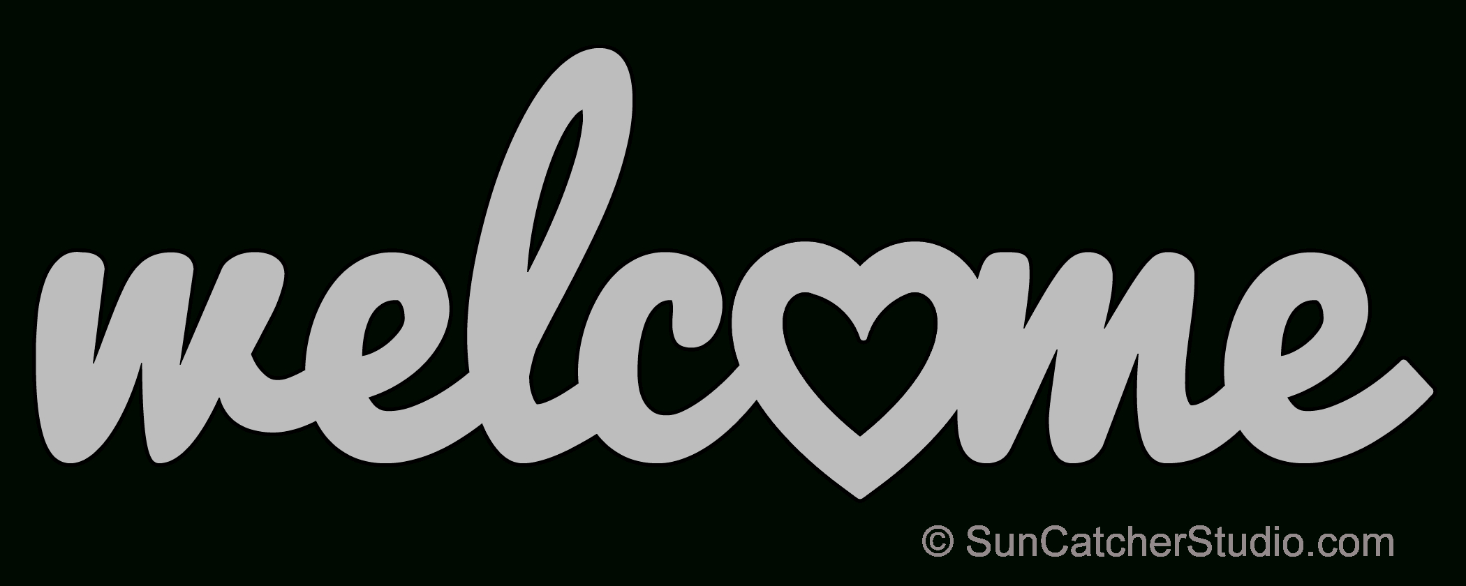 Welcome Heart - Pattern, Template, Stencil, Printable Word Art - Scroll Saw Patterns Free Printable