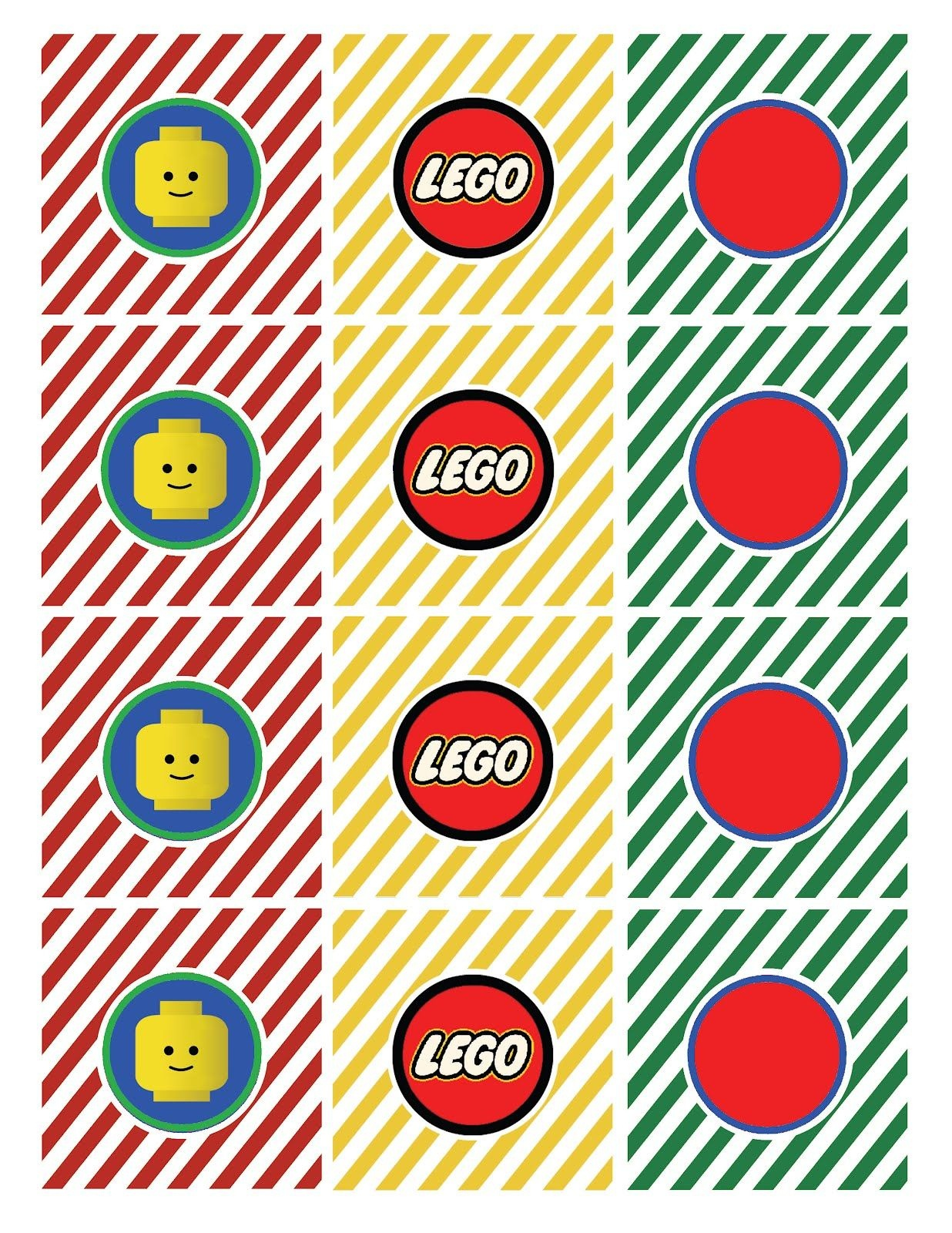 Whatpoppelinesees: Classic Lego Inspired Printable | Lego Party - Free Printable Lego Cupcake Toppers