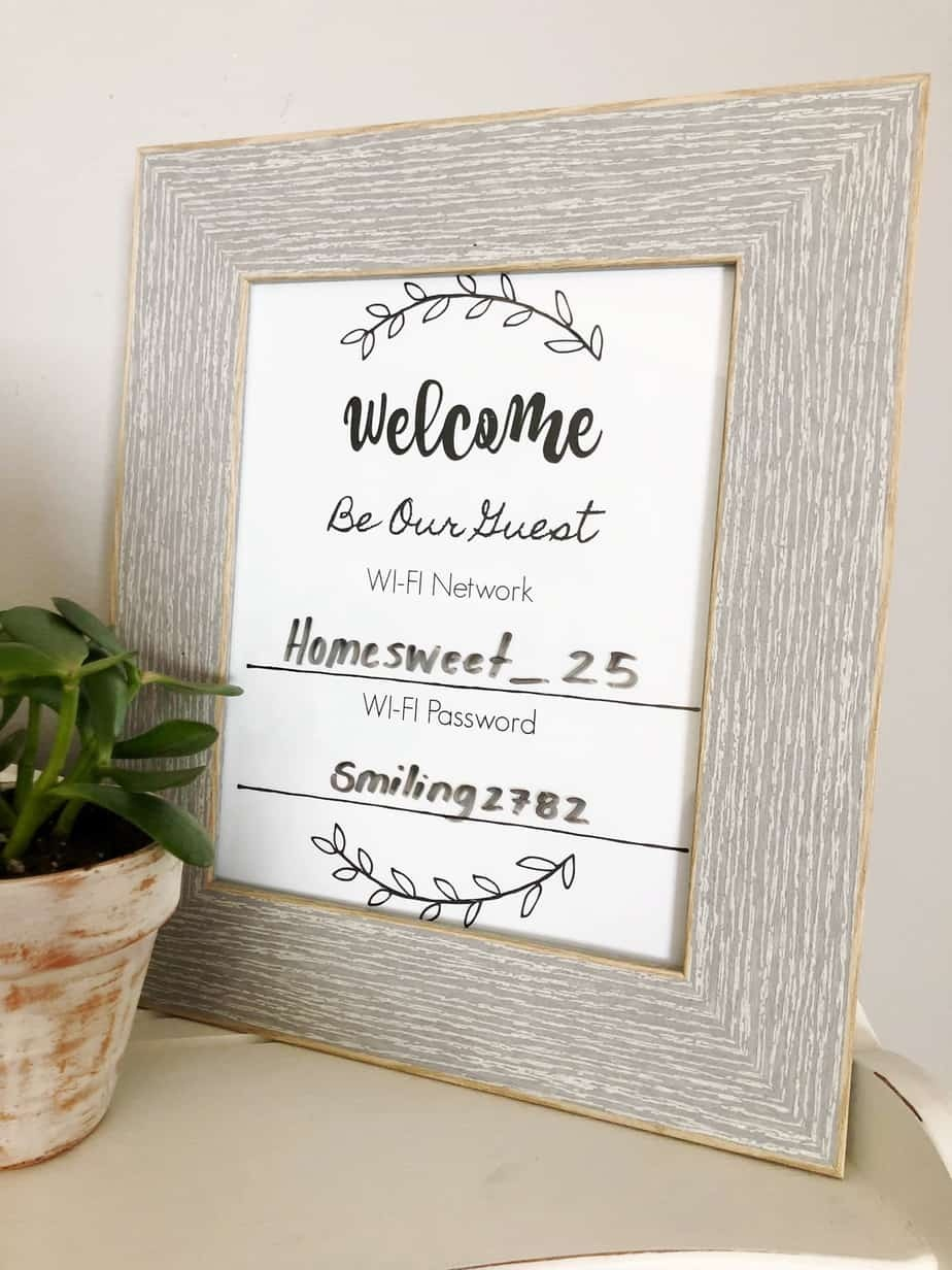 Wifi Network And Password Sign - Free Printable Download! - Free Printable Wifi Sign