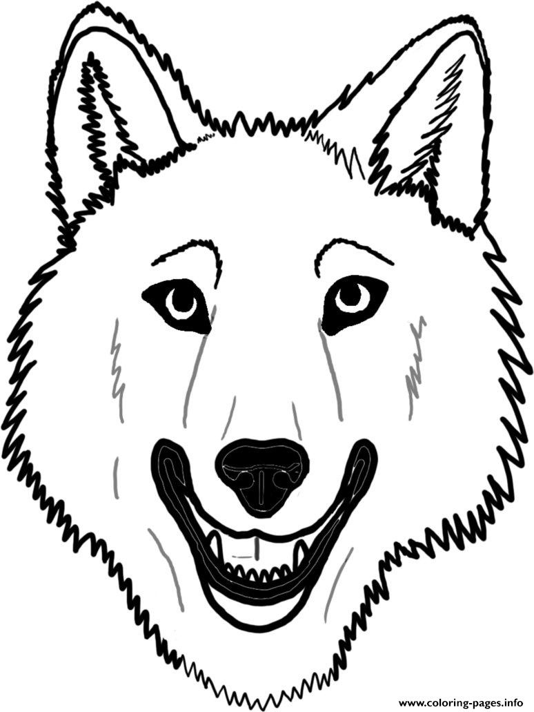 Wolf Face Coloring Page - Coloring Home - Free Printable Wolf Face Mask