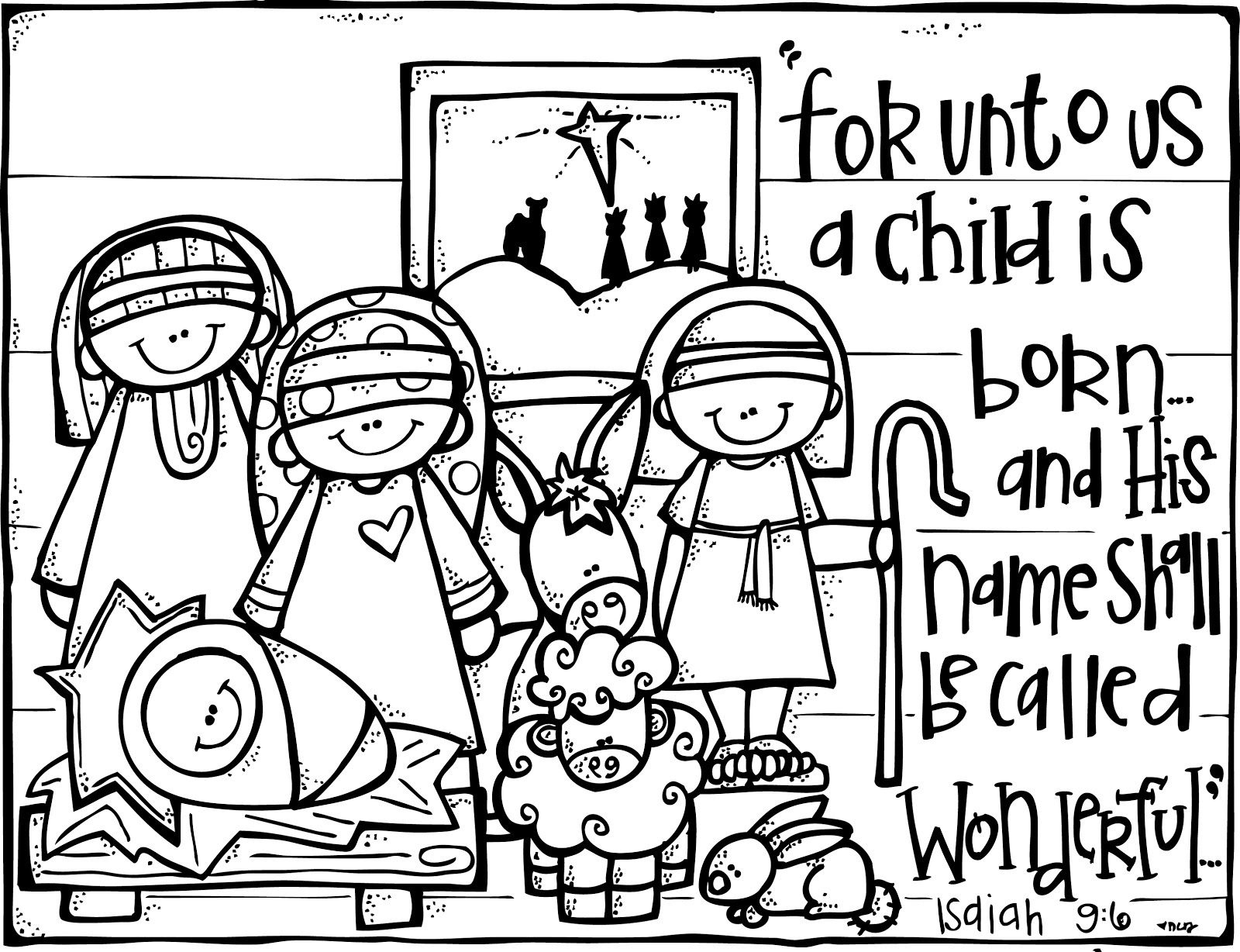 Wonderful Counselor   Christmas   Nativity Coloring Pages, Christmas - Free Printable Nativity Story Coloring Pages