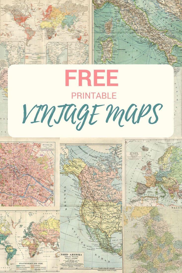 Wonderful Free Printable Vintage Maps To Download | Wedding - Karla - Free Printable Wedding Maps