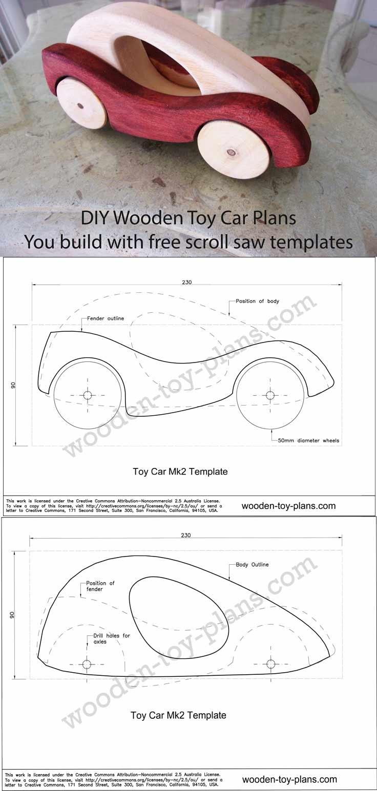 Wooden Car Designs Free Full Size Printable Templates Fun To Make Toys - Free Wooden Toy Plans Printable