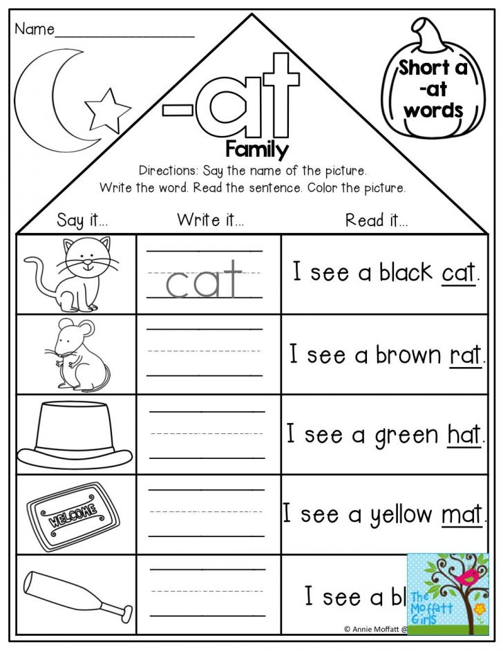 Free Printable Word Family Mini Books
