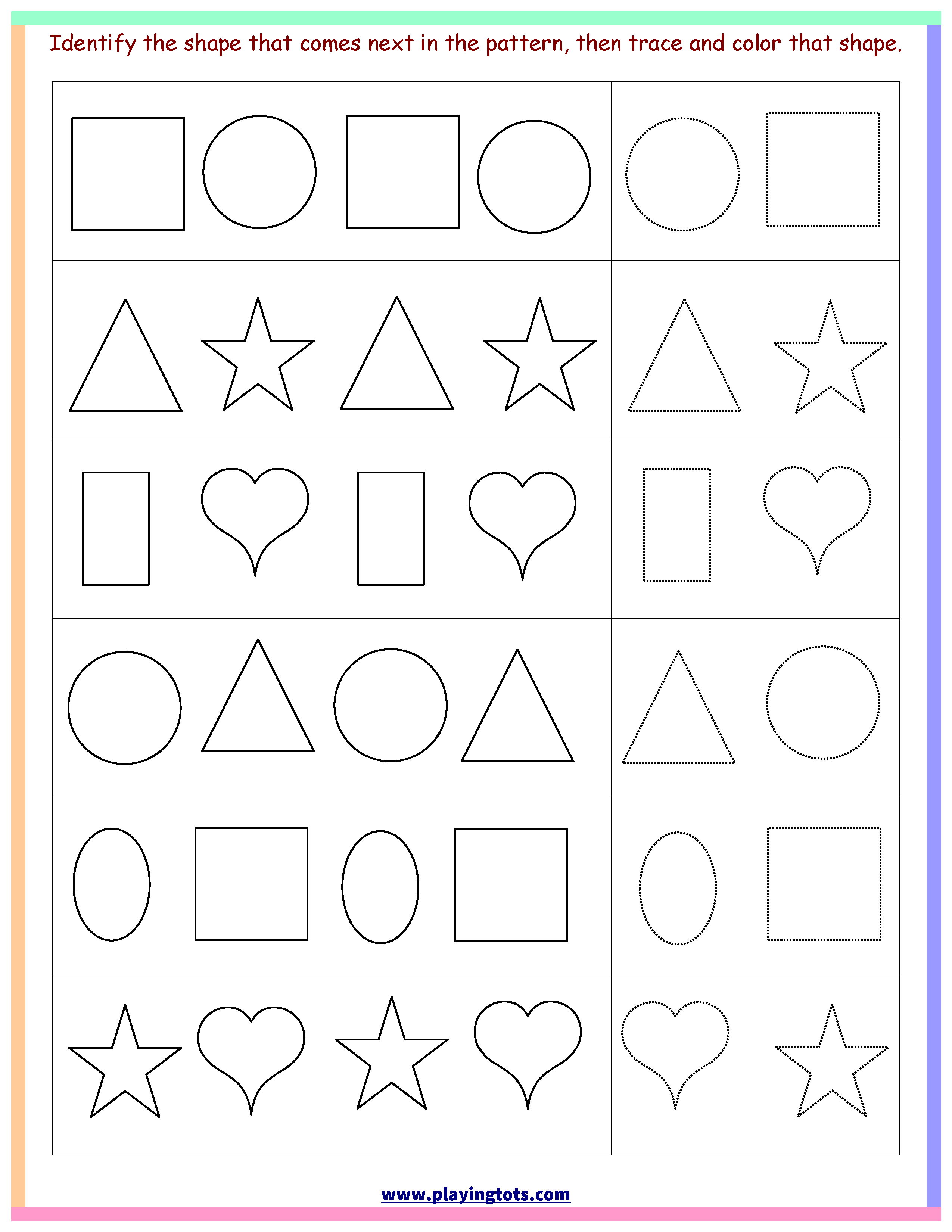 Free Printable Toddler Learning Worksheets | Free Printable