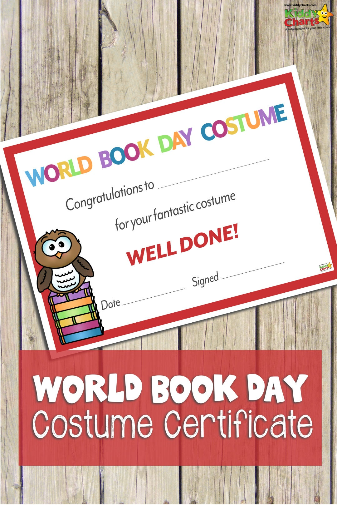 World Book Day Certificate: Best Costume - Best Costume Certificate - Best Costume Certificate Printable Free