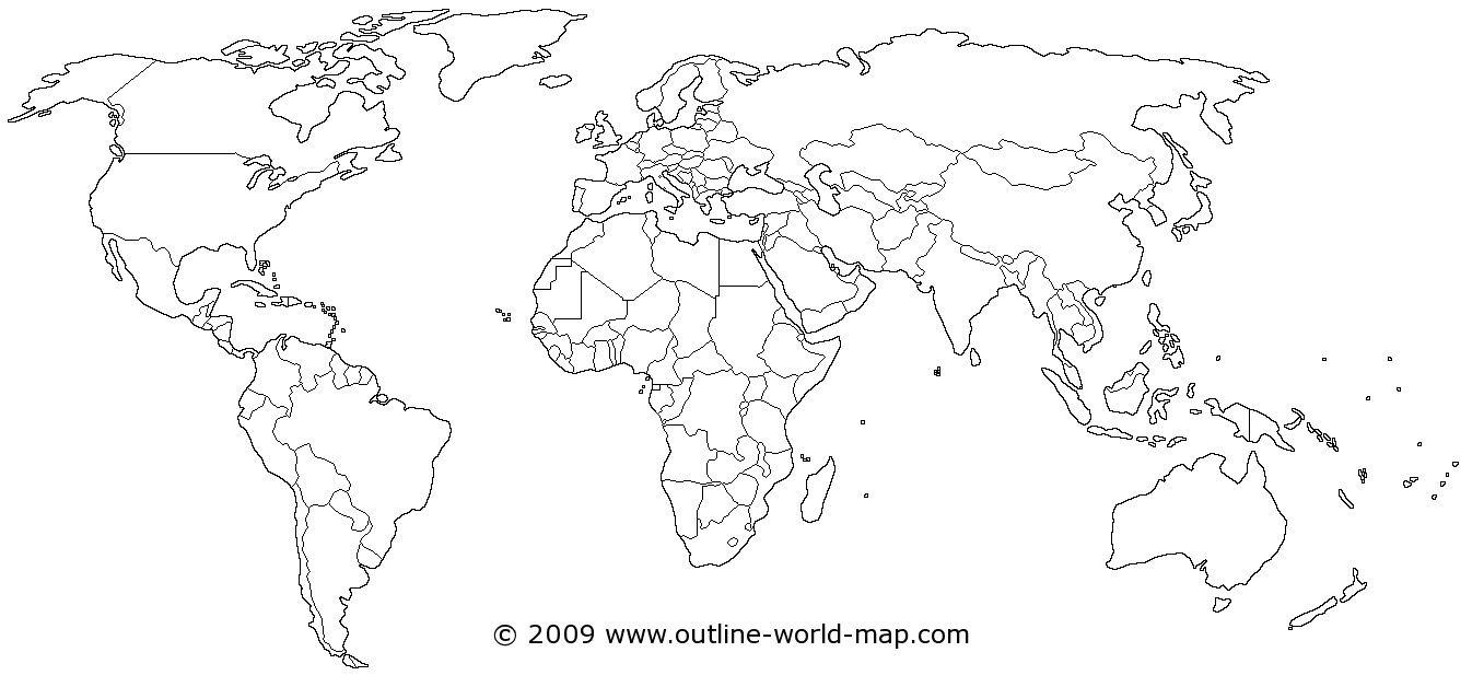 World Map | Dream House! | World Map Printable, World Map Outline - Free Printable Blank World Map Download