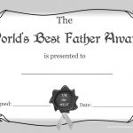 Worlds+Greasest+Dad+Certificate+Award+Images+White+And+Black | Free   Free Printable Best Daughter Certificate