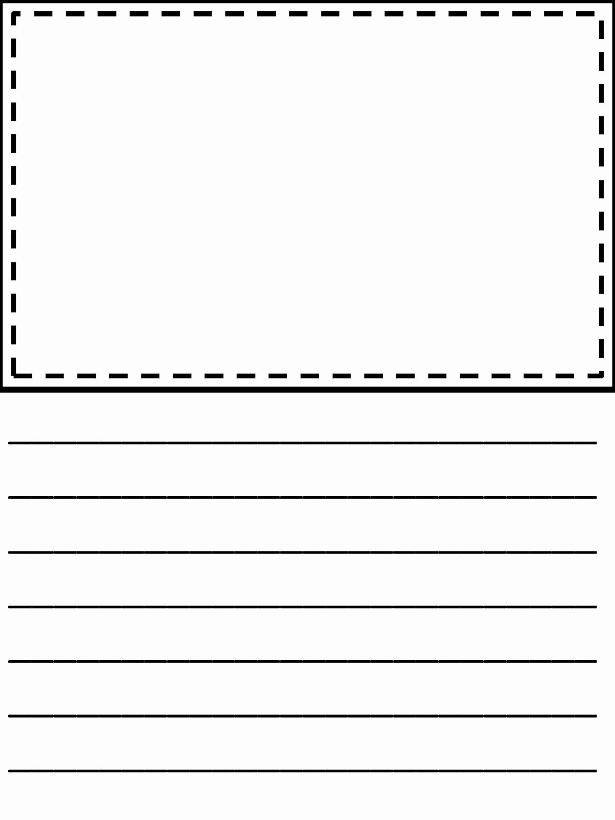 Writing Paper For First Grade With Picture Box - Floss Papers - Free Printable Writing Paper With Picture Box