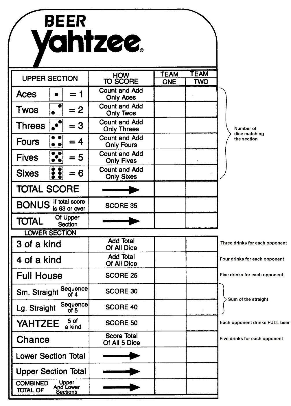 Yahtzee Score Sheets Printable | Yahtzee Score Sheets | Yahtzee - Free Printable Yahtzee Score Sheets