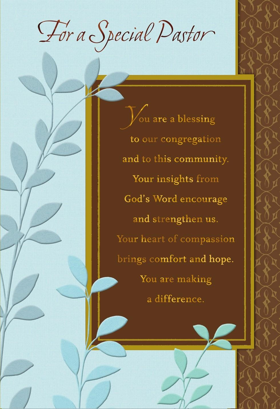 You're A Blessing, Pastor Anniversary Card - Greeting Cards - Hallmark - Hallmark Free Printable Fathers Day Cards
