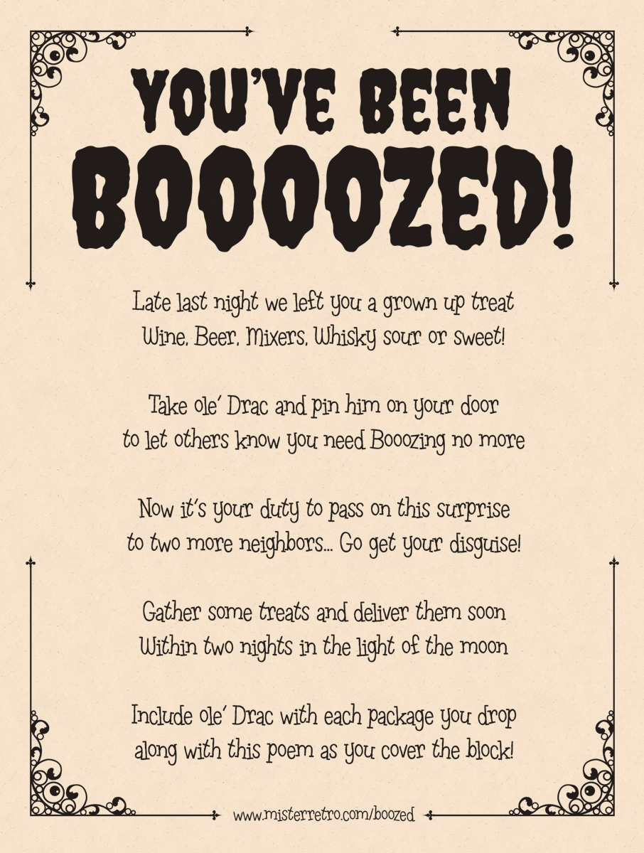 You've Been Boozed! - You Ve Been Boozed Free Printable