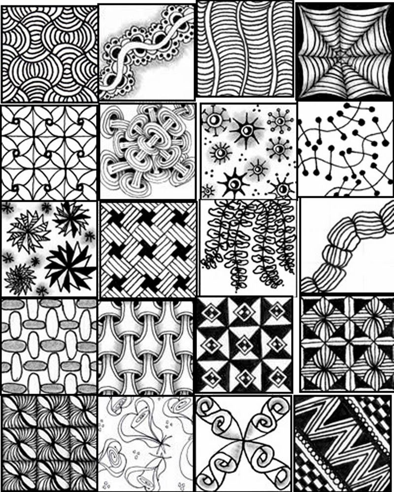 Zentangle Patterns For Beginners Sheets - Bing Images | Zentangle In - Free Printable Doodle Patterns